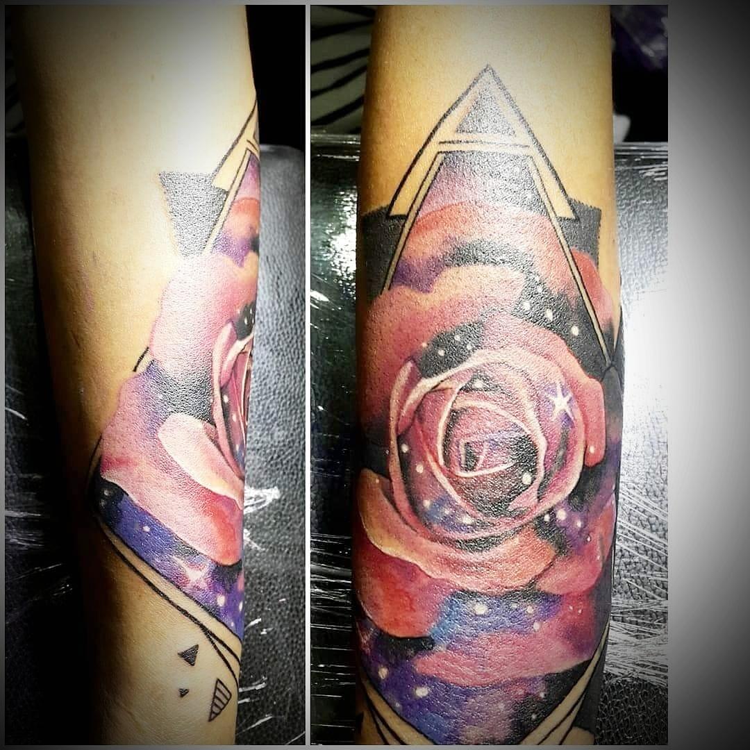 Colored Flower Tattoo, Tattoo Artist in Nepal