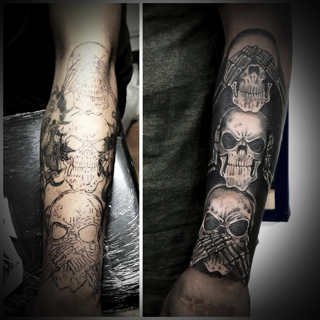 Skull Sleeve Tattoo, Tattoo Artist in Nepal