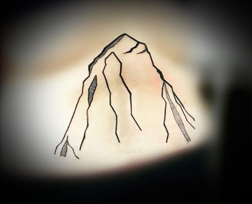 Mountain lining Tattoo,Tattoo Artist in Nepal