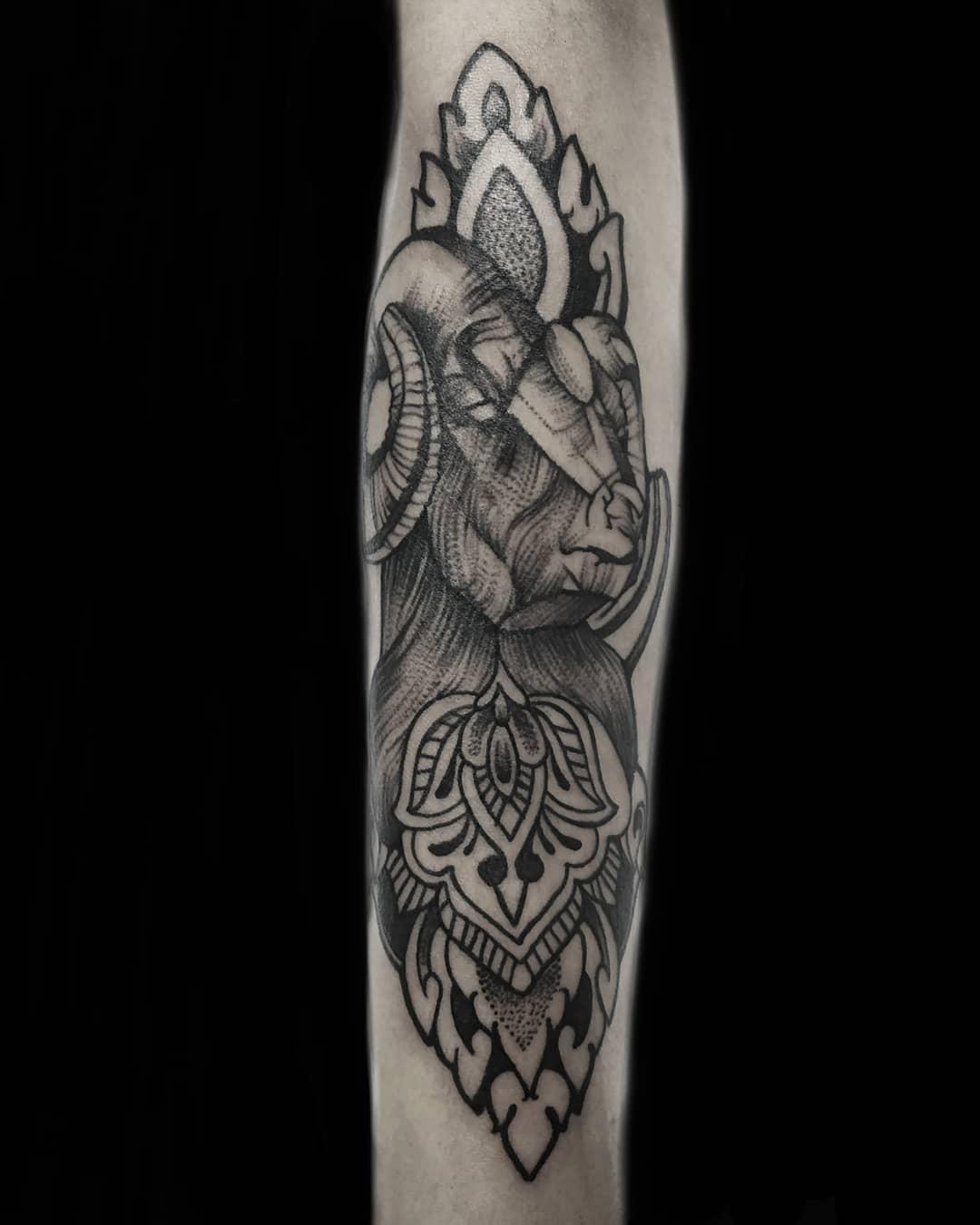 Aries Sleeve Tattoo, Tattoo in Nepal