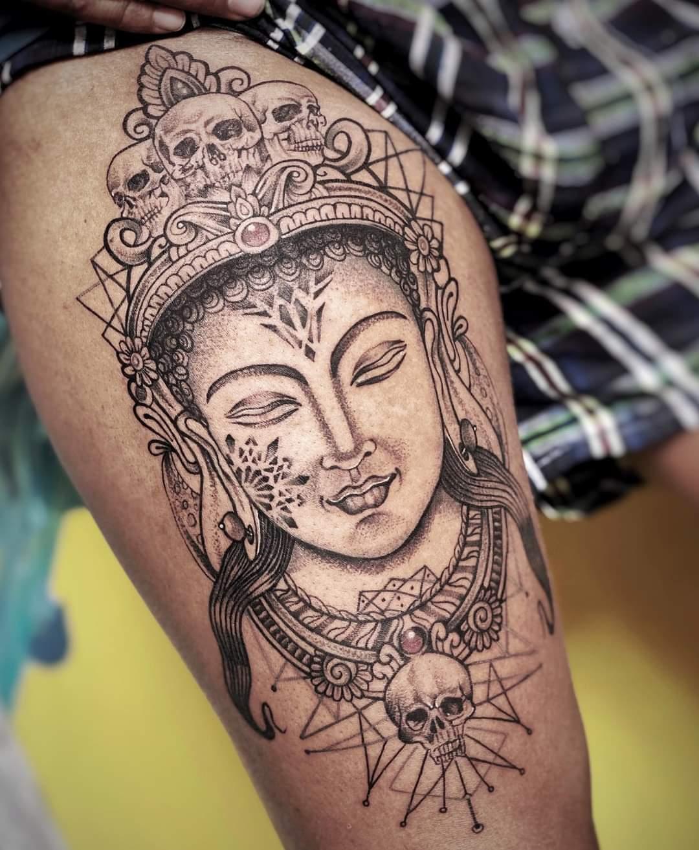 Warrior Tattoo, Best Tattoo in Nepal, Price of Tattoo in Nepal