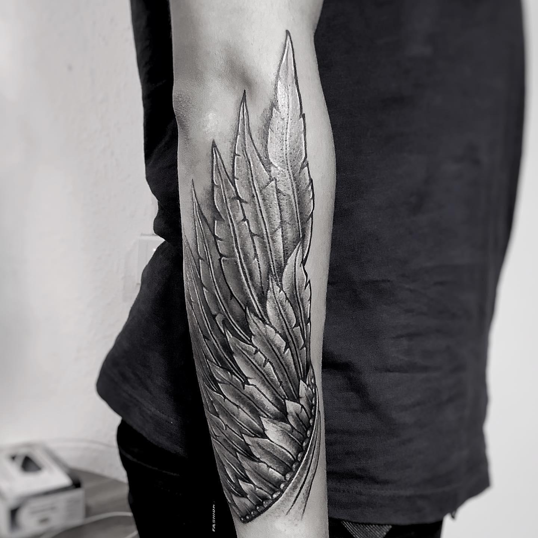 wings tattoo for men, tattoo in nepal