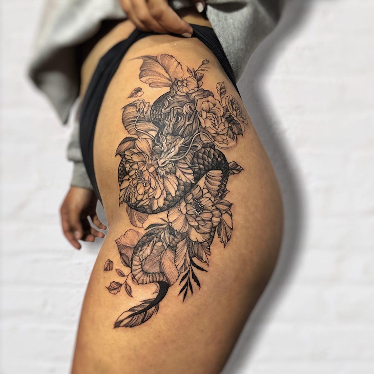 women tattoo in nepal